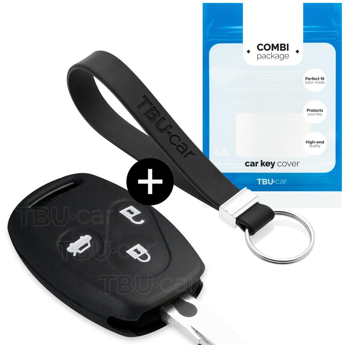 Honda Autoschlüssel Hülle - Silikon Schutzhülle - Schlüsselhülle Cover - Schwarz