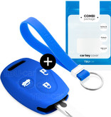 Honda Car key cover - Silicone Protective Remote Key Shell - FOB Case Cover - Blue