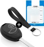 TBU car Autoschlüssel Hülle für Mini 2 Tasten - Schutzhülle aus Silikon - Auto Schlüsselhülle Cover in Schwarz