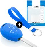 Mini Autoschlüssel Hülle - Silikon Schutzhülle - Schlüsselhülle Cover - Blau