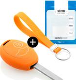 Mini Car key cover - Silicone Protective Remote Key Shell - FOB Case Cover - Orange