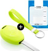 TBU car TBU car Sleutel cover compatibel met Mini - Silicone sleutelhoesje - beschermhoesje autosleutel - Lime groen