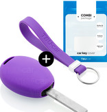 TBU car TBU car Autoschlüssel Hülle kompatibel mit Mini 2 Tasten - Schutzhülle aus Silikon - Auto Schlüsselhülle Cover in Violett