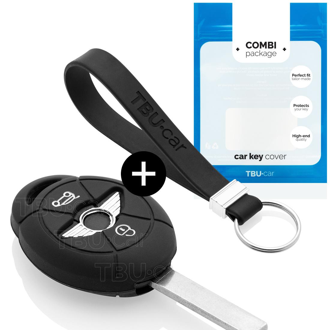 TBU car TBU car Autoschlüssel Hülle kompatibel mit Mini 3 Tasten - Schutzhülle aus Silikon - Auto Schlüsselhülle Cover in Schwarz