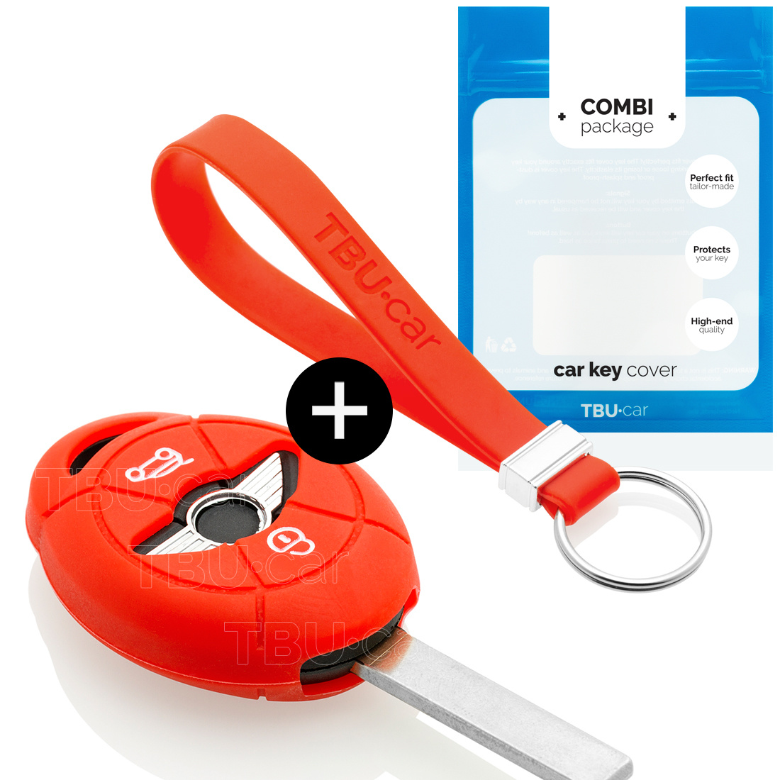 Mini Autoschlüssel Hülle - Silikon Schutzhülle - Schlüsselhülle Cover - Rot