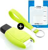 Mercedes Car key cover - Silicone Protective Remote Key Shell - FOB Case Cover - Lime