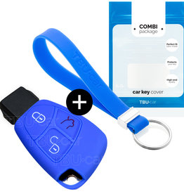 Mercedes Car key cover - Blue