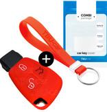 TBU·CAR Mercedes Autoschlüssel Hülle - Silikon Schutzhülle - Schlüsselhülle Cover - Rot