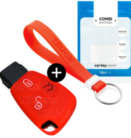 Mercedes Car key cover - Red