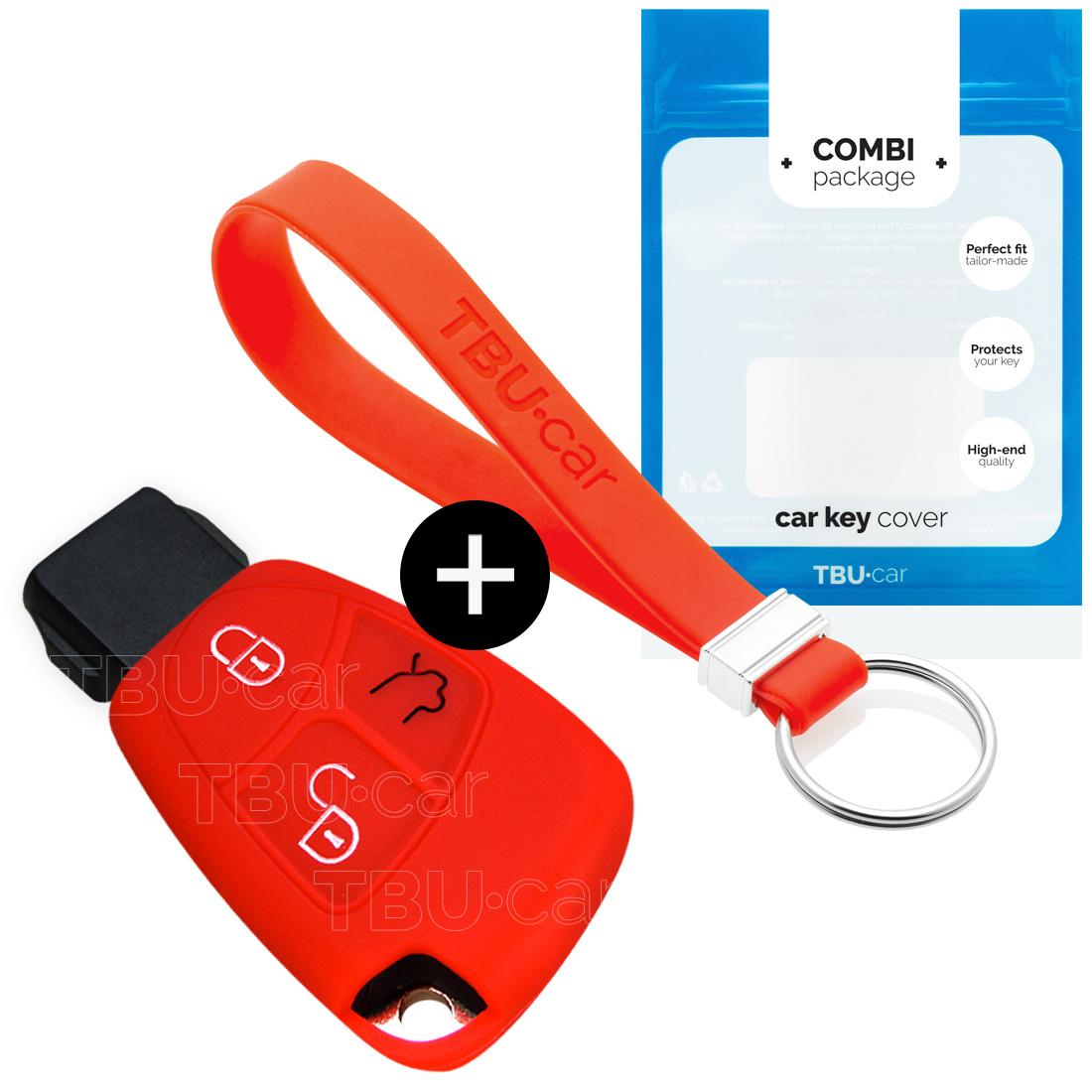 Mercedes Autoschlüssel Hülle - Silikon Schutzhülle - Schlüsselhülle Cover - Rot