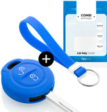 Mitsubishi Car key cover - Silicone Protective Remote Key Shell - FOB Case Cover - Blue