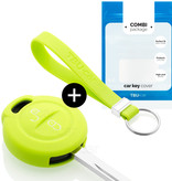 TBU car TBU car Sleutel cover compatibel met Mitsubishi - Silicone sleutelhoesje - beschermhoesje autosleutel - Lime groen