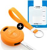 TBU car TBU car Sleutel cover compatibel met Mitsubishi - Silicone sleutelhoesje - beschermhoesje autosleutel - Oranje