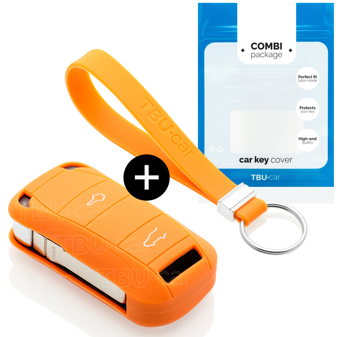 Porsche Schlüssel Hülle - Orange