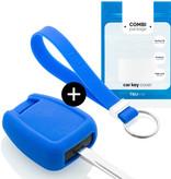 TBU car TBU car Autoschlüssel Hülle kompatibel mit Opel 3 Tasten - Schutzhülle aus Silikon - Auto Schlüsselhülle Cover in Blau