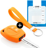Opel Car key cover - Silicone Protective Remote Key Shell - FOB Case Cover - Orange