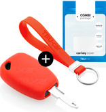 Opel Car key cover - Silicone Protective Remote Key Shell - FOB Case Cover - Red