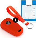 TBU car Autoschlüssel Hülle für Opel 3 Tasten - Schutzhülle aus Silikon - Auto Schlüsselhülle Cover in Rot