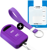 Opel Car key cover - Silicone Protective Remote Key Shell - FOB Case Cover - Purple