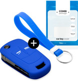 Opel Car key cover - Silicone Protective Remote Key Shell - FOB Case Cover - Blue