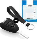 TBU car TBU car Autoschlüssel Hülle kompatibel mit Porsche 3 Tasten - Schutzhülle aus Silikon - Auto Schlüsselhülle Cover in Schwarz