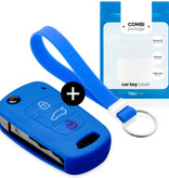 Hyundai Car key cover - Silicone Protective Remote Key Shell - FOB Case Cover - Blue