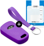 Hyundai Car key cover - Silicone Protective Remote Key Shell - FOB Case Cover - Purple