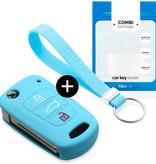 Hyundai Car key cover - Azul claro