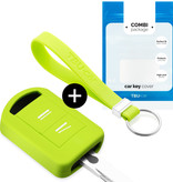 Vauxhall Car key cover - Silicone Protective Remote Key Shell - FOB Case Cover - Lime