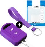 Vauxhall Autoschlüssel Hülle - Silikon Schutzhülle - Schlüsselhülle Cover - Violett