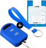 Vauxhall Autoschlüssel Hülle - Silikon Schutzhülle - Schlüsselhülle Cover - Blau