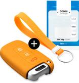 TBU car TBU car Sleutel cover compatibel met Hyundai - Silicone sleutelhoesje - beschermhoesje autosleutel - Oranje