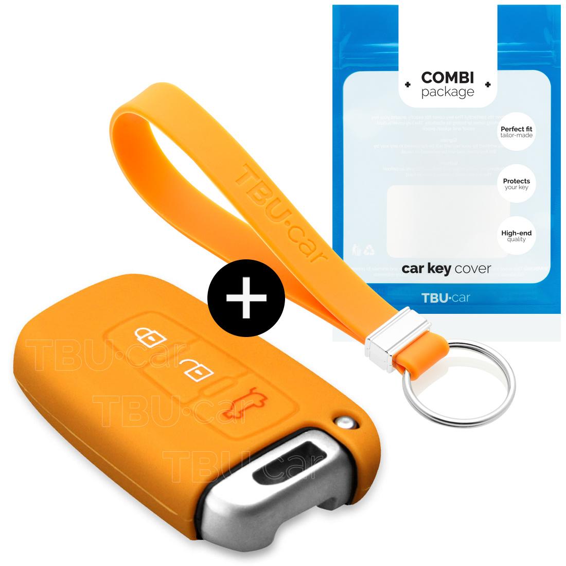 Hyundai Car key cover - Silicone Protective Remote Key Shell - FOB Case Cover - Orange