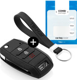 TBU car Autoschlüssel Hülle für Hyundai 3 Tasten - Schutzhülle aus Silikon - Auto Schlüsselhülle Cover in Schwarz