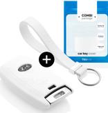 Hyundai Car key cover - Silicone Protective Remote Key Shell - FOB Case Cover - White