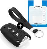 Hyundai Car key cover - Silicone Protective Remote Key Shell - FOB Case Cover - Black