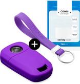 TBU·CAR Vauxhall Autoschlüssel Hülle - Silikon Schutzhülle - Schlüsselhülle Cover - Violett