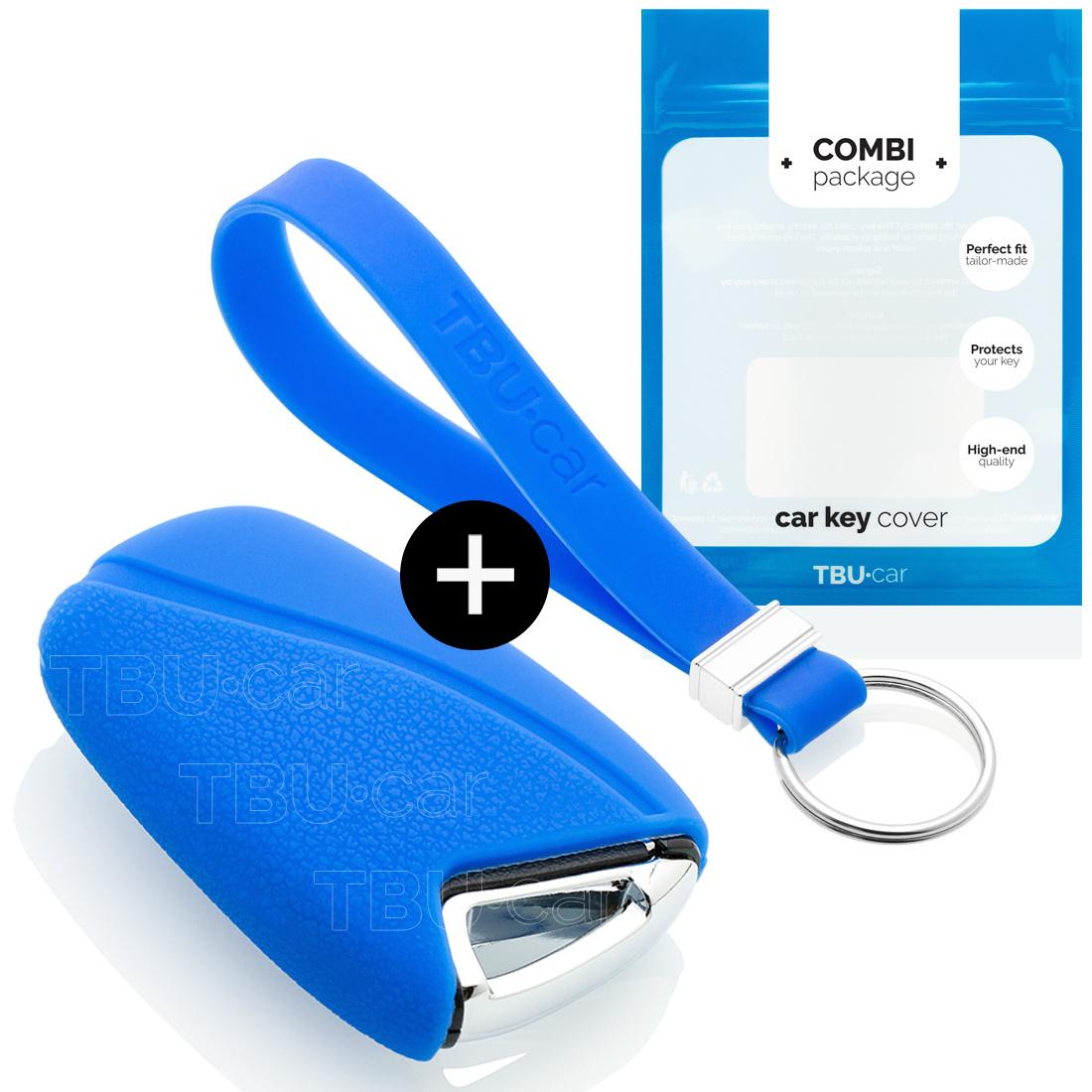 Hyundai Autoschlüssel Hülle - Silikon Schutzhülle - Schlüsselhülle Cover - Blau