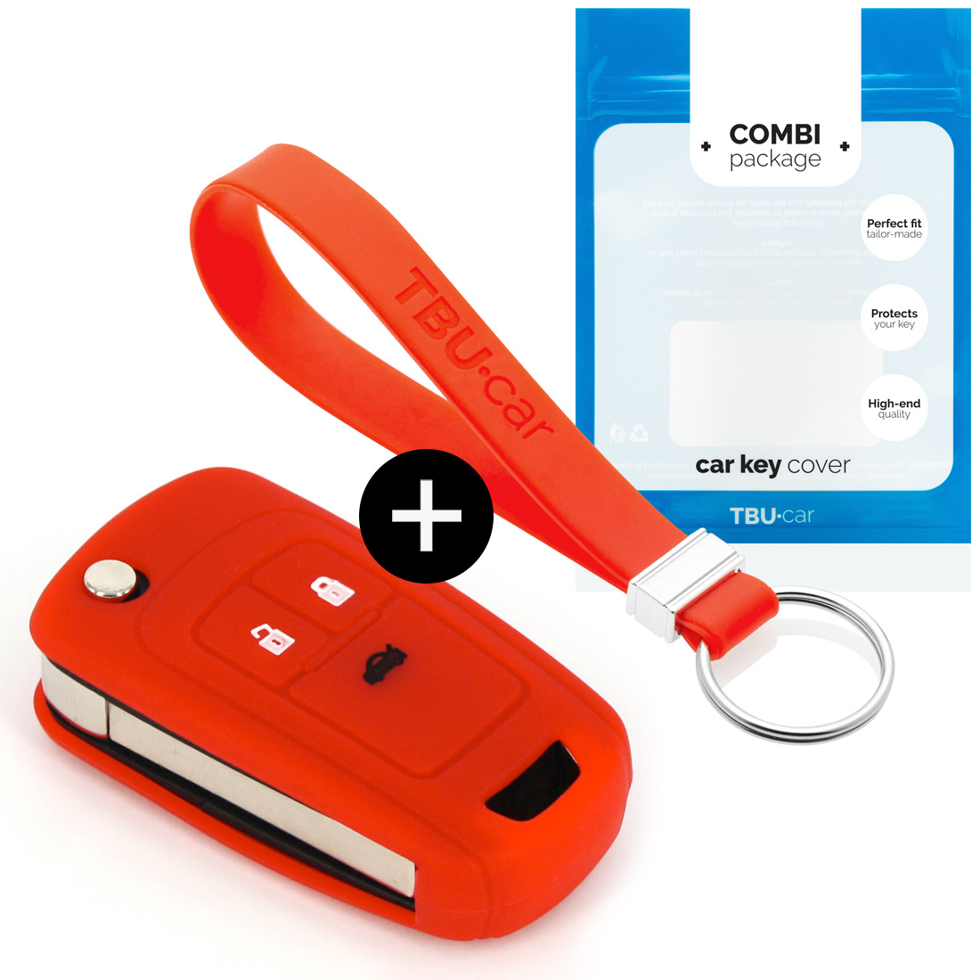 Vauxhall Car key cover - Silicone Protective Remote Key Shell - FOB Case Cover - Red