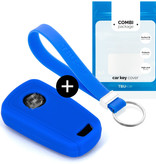 Vauxhall Car key cover - Silicone Protective Remote Key Shell - FOB Case Cover - Blue