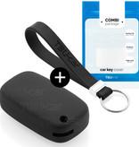TBU car TBU car Autoschlüssel Hülle kompatibel mit Smart 3 Tasten - Schutzhülle aus Silikon - Auto Schlüsselhülle Cover in Schwarz