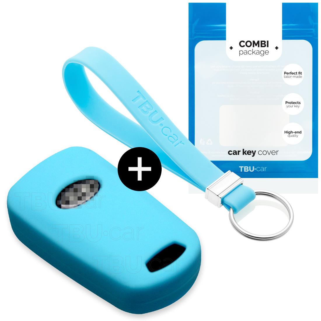 TBU car TBU car Sleutel cover compatibel met Kia - Silicone sleutelhoesje - beschermhoesje autosleutel - Lichtblauw