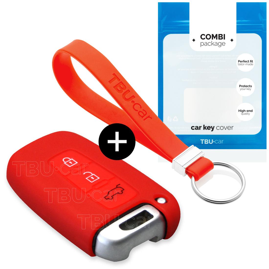 Kia Autoschlüssel Hülle - Silikon Schutzhülle - Schlüsselhülle Cover - Rott