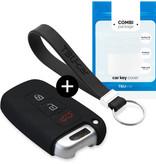 TBU car TBU car Autoschlüssel Hülle kompatibel mit Kia 3 Tasten (Keyless Entry) - Schutzhülle aus Silikon - Auto Schlüsselhülle Cover in Schwarz