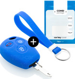 Smart Car key cover - Silicone Protective Remote Key Shell - FOB Case Cover - Blue