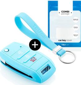 Kia Car key cover - Light blue