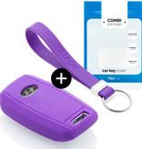 Kia Car key cover - Silicone Protective Remote Key Shell - FOB Case Cover - Purple