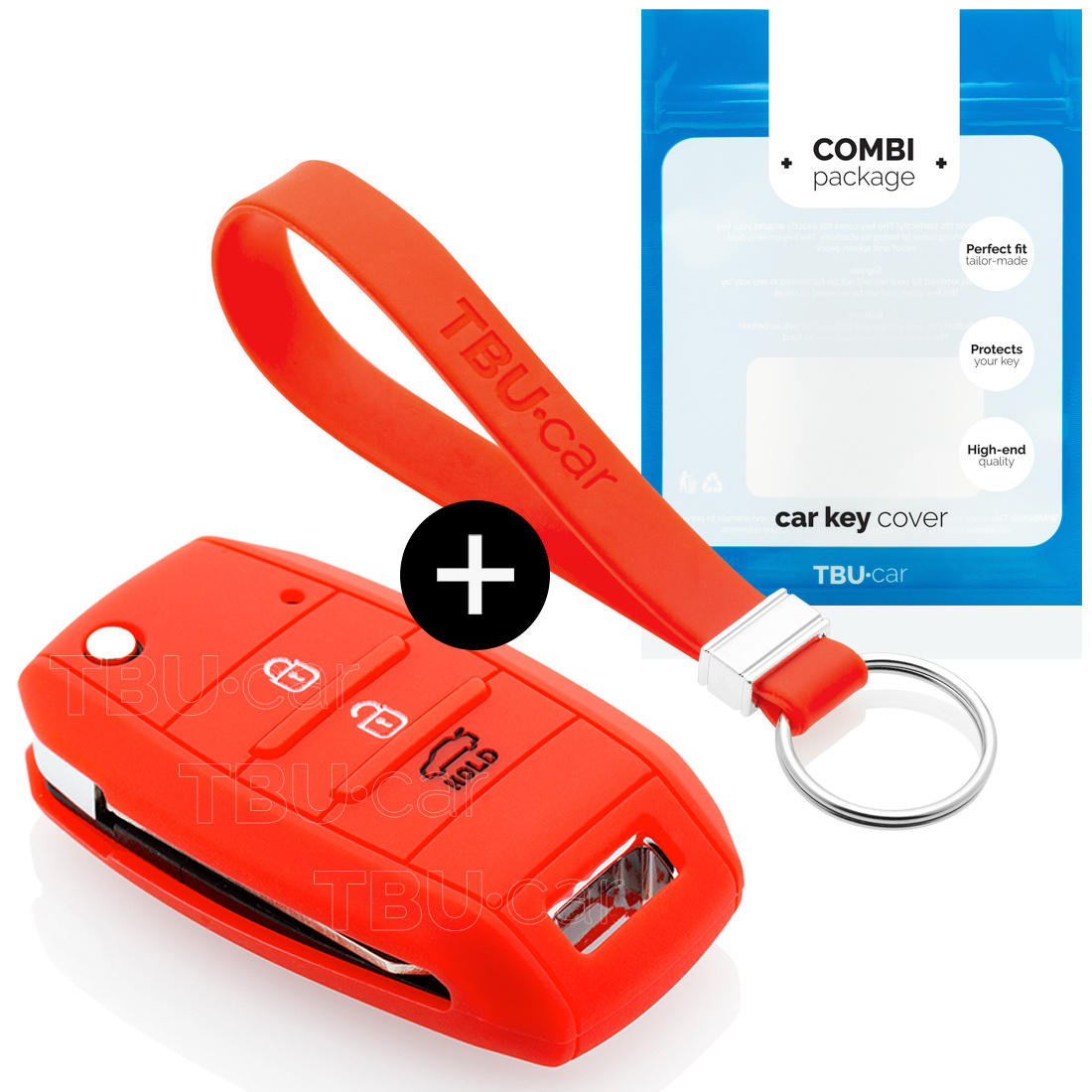 Kia Car key cover - Silicone Protective Remote Key Shell - FOB Case Cover - Red