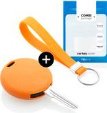 TBU car TBU car Sleutel cover compatibel met Smart - Silicone sleutelhoesje - beschermhoesje autosleutel - Oranje