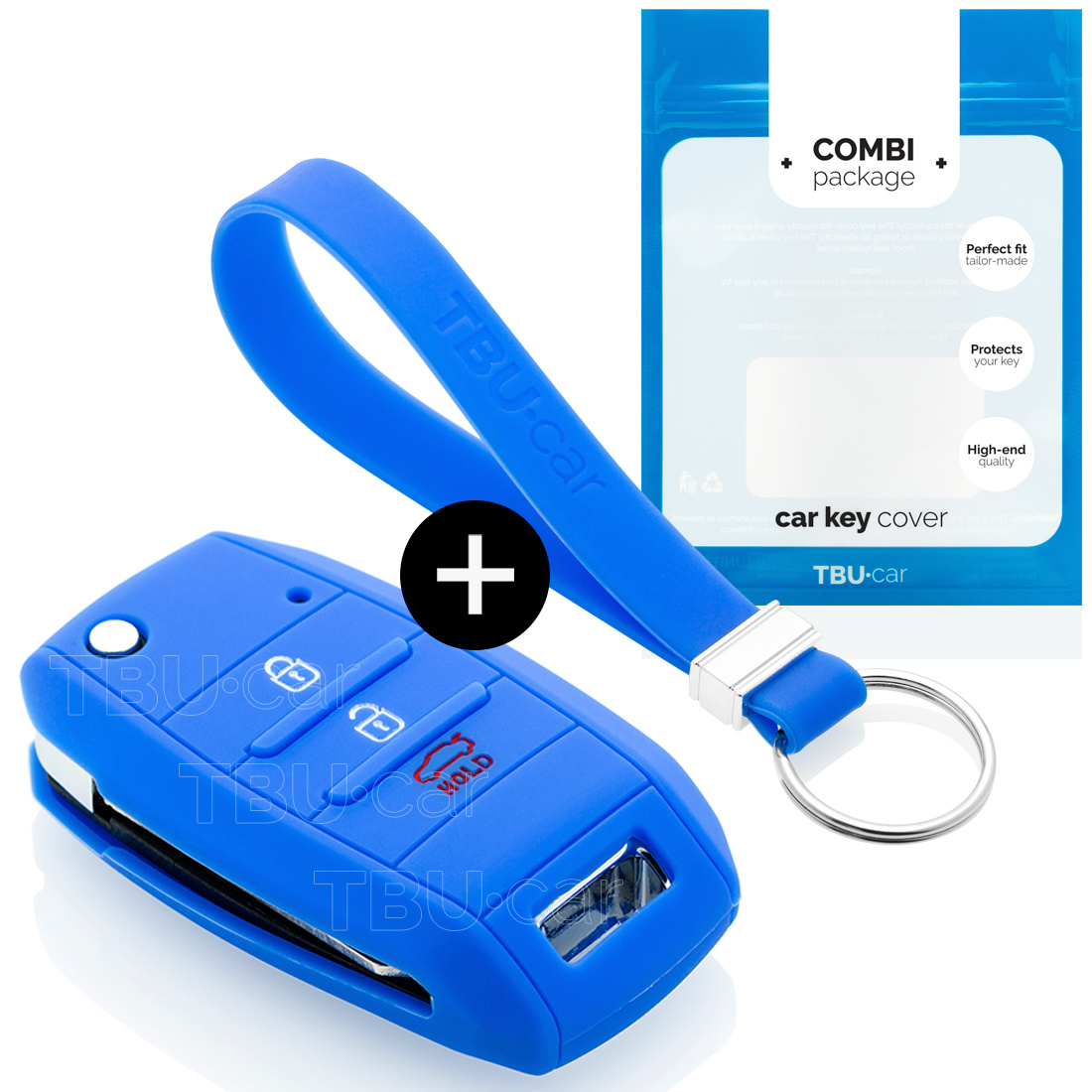 Kia Autoschlüssel Hülle - Silikon Schutzhülle - Schlüsselhülle Cover - Blau